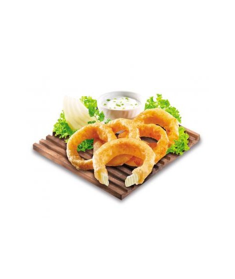 Beer buttered onion rings