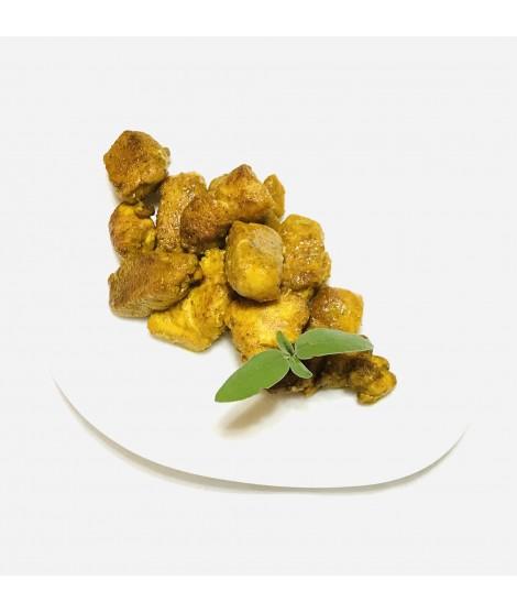 Pollo al curry confit